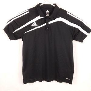 adidas Shirts - Adidas Polo Shirt EUC Black White Stripe Clima 365 6e73546c18